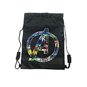 41dVdElBvpL. SS300  - Marvel Trainer Bag Bolso de gimnasio, 44 cm, Negro (Black)