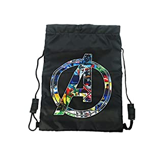 Marvel Trainer Bag Bolso de gimnasio, 44 cm, Negro (Black)