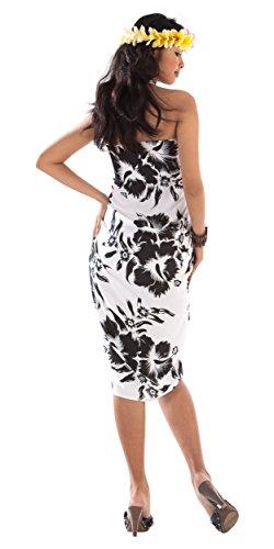 1 World pareo da donna ibisco fiori costume da bagno near Dark in la tua scelta di colore Black/White