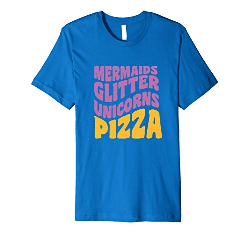 mens-funny-mermaids-glitter-unicorns-pizza-t-shirt-medium-royal-blue