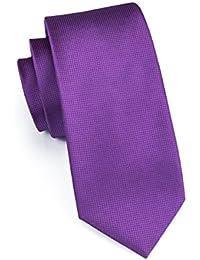 Hi-Tie Mens Solid Tie Handkerchief Cufflinks set Woven Silk Necktie