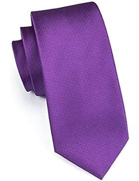 Set Hi-Tie de pañuelo y corbata de seda y de gemelos, de buena calidad, para hombre