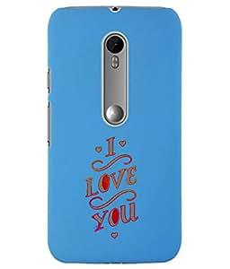 KolorEdge Back Cover For Motorola Moto X Style - Sky Blue (5861-Ke15174MotoXStyleSBlue3D)