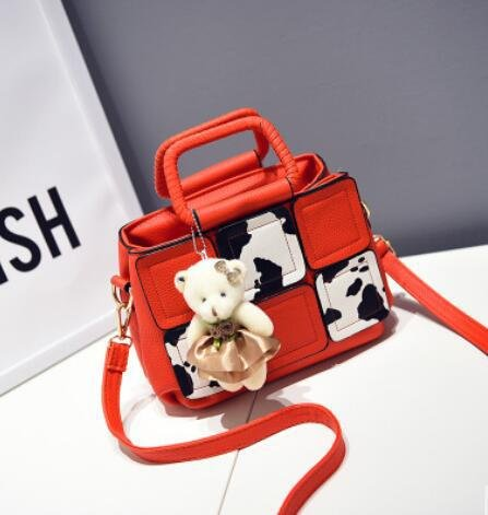 HQYSS Damen-handtaschen PU Leder Cuta Cartoon Milch Frauen Schulter Handtasche Messenger big red