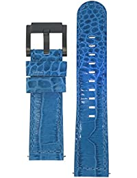 TW Steel Marc Coblen Armband Uhrenband Uhrenarmband Leder 22 MM Kroko Blau LB_BL_K_B