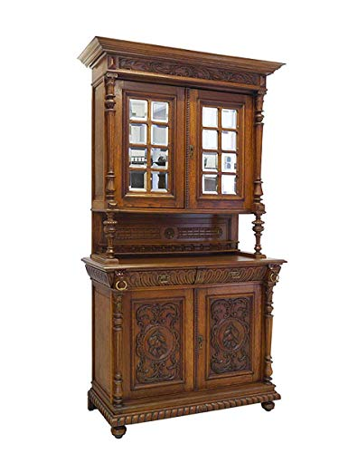 Antike Fundgrube Buffet Buffetschrank Küchenschrank Gründerzeit Um 1880 Eiche B: 124 cm (8287)