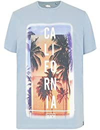 Mens Badrhino 'california' Slogan T-shirt - Tall
