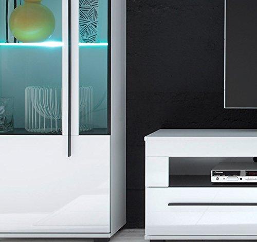 Wohnwand Anbauwand mit LED-Beleuchtung 440939 weiß 330cm 4-teilig - 4