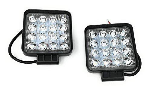 2 x 48 W Led Luce da lavoro lampada lavoro 3800 lm 6000 K 67IP Backup luci - Trattore Ruspa - - [Classe di efficienza energetica A+]