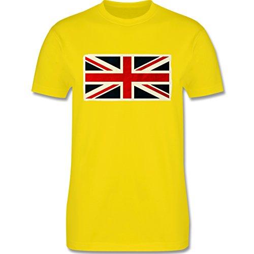 Länder - Flagge Großbritannien - Herren Premium T-Shirt Lemon Gelb