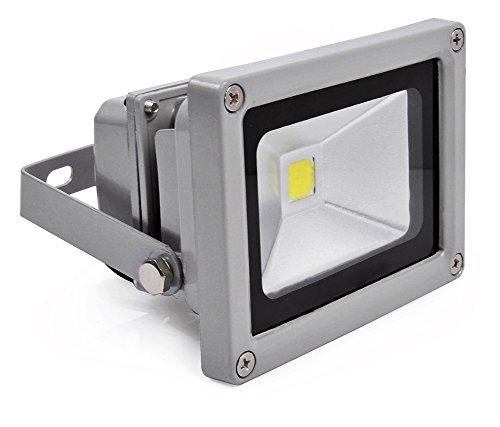 10W LED Fluter Außen Strahler Objektbeleuchtung Flutlicht Scheinwerfer Kalt Weiss/Kalt Weiß 230V (Heavy-duty-flutlicht)