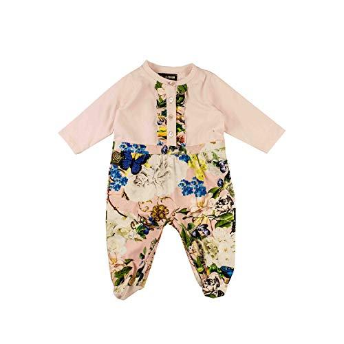 Roberto Cavalli Baby-Body mit floralem Muster - rosa, Größe:6 Monate / 68
