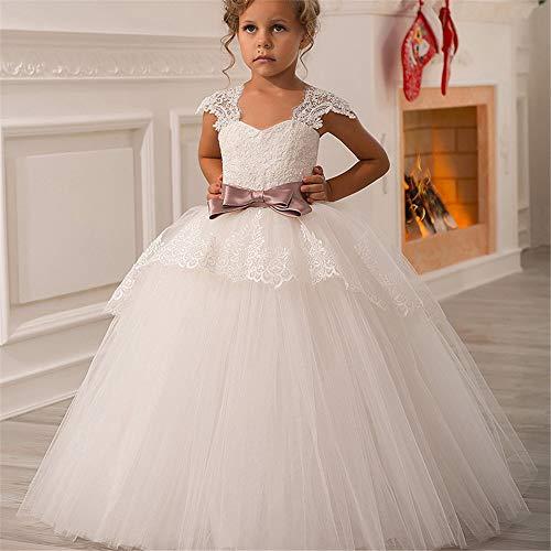 Bangxiu-dress Mädchen Prinzessin Kleid Geburtstagsfeier-Spitze-Schultergurt-Mädchen Pettiskirt Kinderblumen-Mädchen-Hochzeitsfest-Partei-Kleid für Hochzeit Brautjungfer Prom Cocktail (Größe : - Tanz Kostüm Mädchen Im Teenageralter