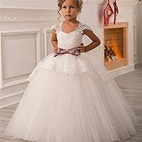 1412b166d Vestido de Bola de Las niñas pequeñas Fiesta de cumpleaños Encaje Correa  para el Hombro Chica