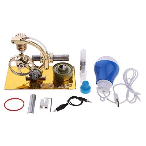 Tubayia DIY Stirlingmotor Dampfmaschinen Generator Modell Bausatz Physik Wissenschaft Pädagogisches Spielzeug
