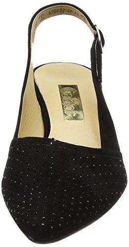 Gabor Shoes Fashion, Scarpe Col Tacco con Cinturino a T Donna Nero (schwarz 17)