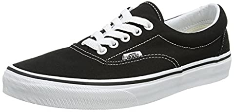Vans Era, Unisex-Adult Low-Top Trainers, Black (Black ((snake) black / k / DUI)), 2.5 UK (34.5 EU)