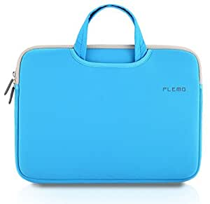 Plemo Notebook-Aktentaschen, Nylon Lykra Gewebe Tasche Hülle Sleeve für 38,1-39,6 cm (15-15,6 Zoll) Laptop / Notebook Computer / MacBook / MacBook Pro, Blau