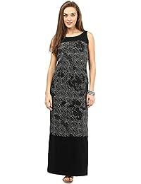 Taurus Women's Black Long Straight Maxi Dress
