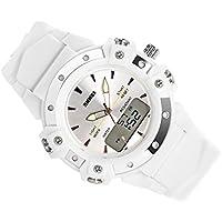 DSstyles Soldier Waterproof Digital Analog Dual Display Unisex Sport Watch - White by DS Styles