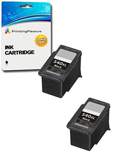2 XL NERO Cartucce d'inchiostro compatibili per Canon Pixma MG4250 MG4150 MG3650 MG3550 MG3250 MG3150 MG2250 MG2150 MG3500 MG3600 MX455 MX475 MX515 MX525 MX535 MX375 MX395 MX435 | PG-540XL (PG540XL)