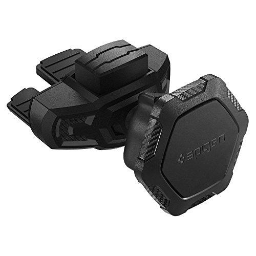 Spigen Kuel QS24 Handyhalterung Auto CD Schlitz [2018 Edition][Carbon Pattern] für iPhone X/8/8 plus/7/7 Plus/6S/6S Plus/Galaxy S9/S9 Plus/Note 8/S8/S8 Plus/S7 Edge & - Iphone-halterung Magnetisches