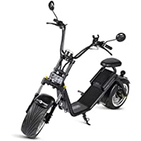 Moto City Coco, Caigiees de color negro, Motor 1200W, Velocidad 45-65km