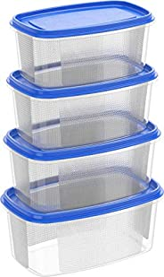 Cosmoplast 6291048141310 Plastic Food Storage Containers Oval 750 ml, 1.5, 2.5, 4 Liters Microwave, Freezer, a