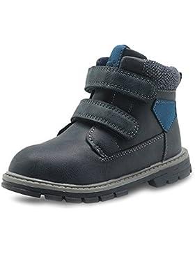 Best-choise Toddler Boys Martin Boots Zapatos de Tobillo de Cuero PU Resistentes a La Abrasión High Top Accent...