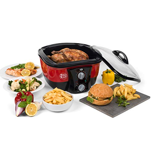 JML V0740 Go Chef 8-in-1 Multi-Kocher, 8 Kochprogrammen, 5 L, 1500 W, Rot