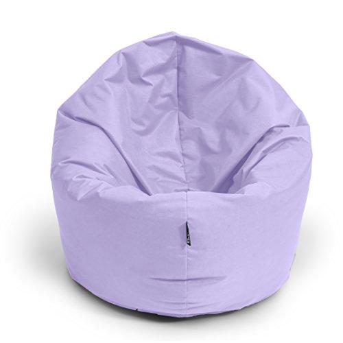 Sitzsack BuBiBag M - XXL 2 in 1 mit Füllung Sitzkissen Tropfenform Bodenkissen Kissen Sessel BeanBag (125cm durchmesser, flieder)