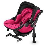 Kiddy Evoluna i-Size 2 | Babyschale mit Liegefunktion (Gruppe 0+) Bis zu ca. 15 Monate (maximum 13kg) inklusive Isofix Base | Kollektion 2019 | Rubin Pink