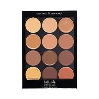 Makeup Academy (MUA) Professional Correct & Conceal Palette - Dark