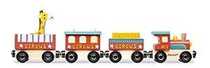 Janod- Circo Story Tren de Madera, Multicolor (J08530)