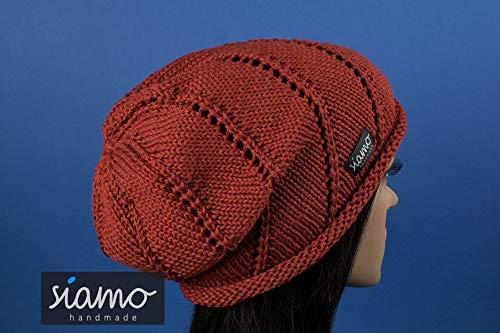 Beanie ROM II rost-braun für Übergangszeit/Sommer Mütze von siamo-handmade