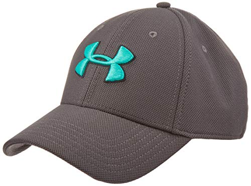 Under Armour Herren Blitzing 3.0 Cap Kappe, Charcoal/Black/Green Malachite (019), M/L