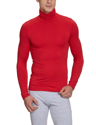 HOM Herren Unterhemd 10120077 Warm Inners Shirt 04 RED - DARK COMBINATION   M006