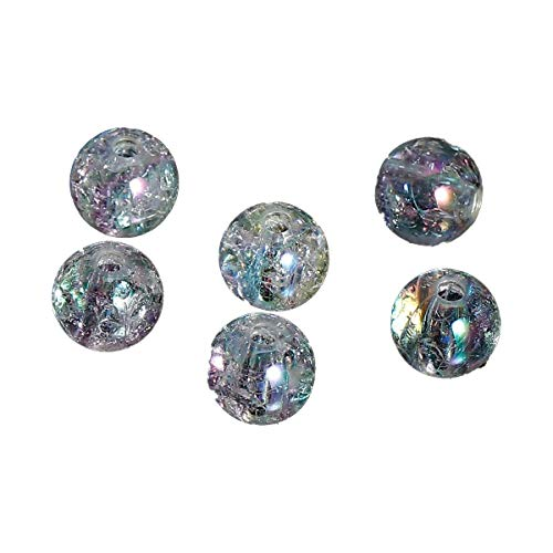 Sadingo Acrylperlen, Kunststoffperlen - Perlen zum basteln - 100 Stück - 8 mm - Loch ca.: 2 mm - Farbe wählbar, Farbe:Transparent