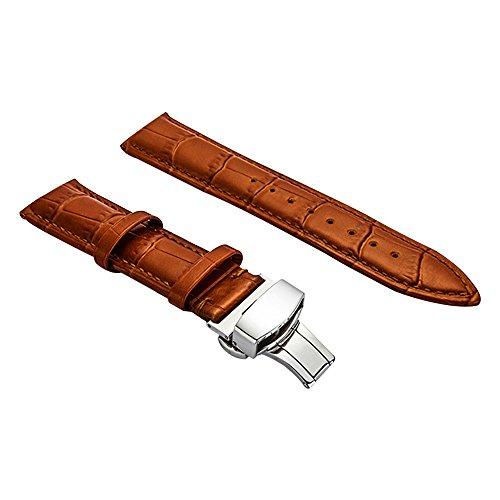 BONSTRAP Damen Leder Uhrarmband 15mm Braun