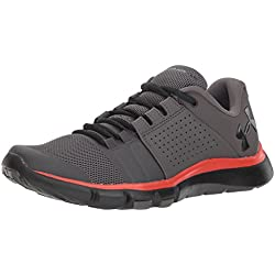 Under Armour UA Strive 7 NM, Zapatillas de Deporte para Hombre, Gris (Charcoal/Radio Red/Black), 44 EU