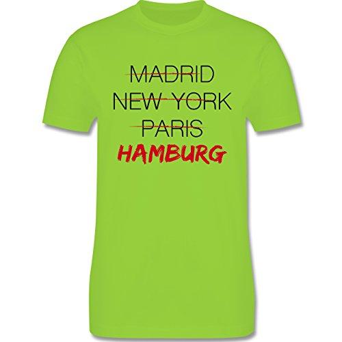 Städte - Weltstadt Hamburg - Herren Premium T-Shirt Hellgrün