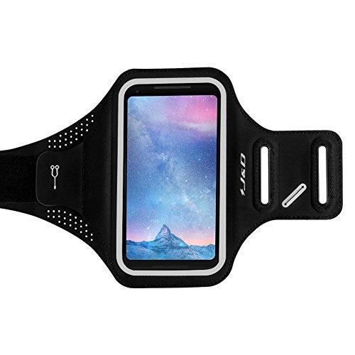 J & D Pixel 2XL Armband, [super-comfort] [leicht] Sportarmband für Google Pixel 2XL, mit Key Holder Slot, perfekt Kopfhörer Anschluss, während Workout Running