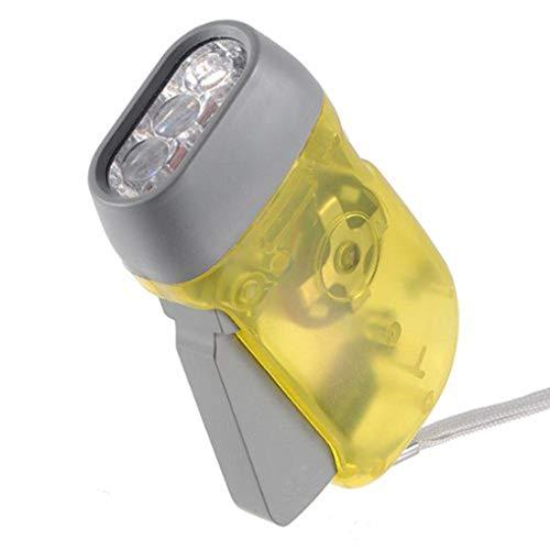 Mengonee Dínamo 3 LED Linterna antorcha Mano Luz