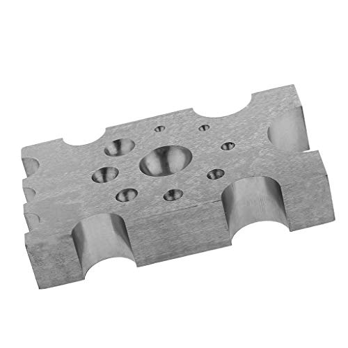 IPOTCH Solidem Stahl Doming dapping Block Metall Schmuck Schmuckwerkzeuge