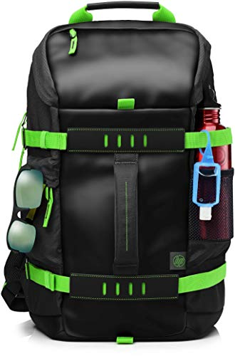 HP Odyssey T5P98AA Backpack for 15.6-inch Laptops (Black/Electric Green)