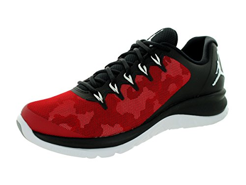 Nike Herren Sportschuhe Jordan Flight Runner 2 mehrfarbig (Black/Wolf Grey-Gym Red)