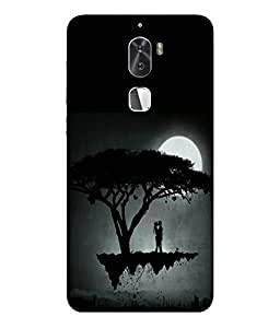 FUSON Designer Back Case Cover for Coolpad Cool 1::Coolpad cool1 dual (Dark Night Moon Light Cute Couple)