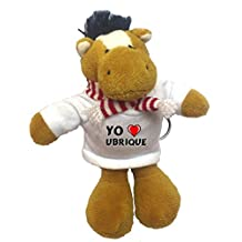Caballo de peluche (llavero) con Amo Ubrique en la camiseta (ciudad / asentamiento)