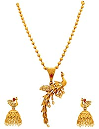 Sasitrends Latest And Trendy Peacock NecklaceJewellery Set With Earrings For Women