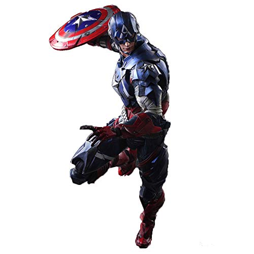 MKKSB Marvel Avengers 11 Inches / Height 28 cm Captain America Action Figure, Captain America Toys (Joints Can Be Active Active